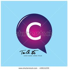Letter C on bubble talk icon as an integrated communication. Design Template for…