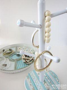 Mug Holder into Jewelry Organizer (guest post!) ~ Madigan Made { simple DIY ideas }