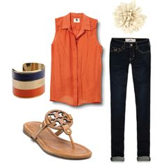 i want these shoes, jeans, bangle, shirt, and flower. so pretty much this outfit is AMAZING design. Preppy Style, Style Me, Summer Outfits, Cute Outfits, Material Girls, Passion For Fashion, Spring Summer Fashion, Dress To Impress, Fashion Outfits