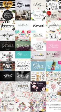 Possibly our biggest ever bundle, including65 different fonts and 13 different Graphics Packs. All for only $29, which is 97% OFF RRP. This pack comes with our full Complete License, which allows all purchasers to use these products across a wide range of commercial activities, including on items which are created to sell. Hurry this amazing collection is only available for August 2016.
