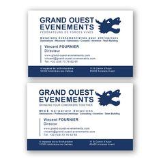 Création et réalisation de cartes de visite pour Grand Ouest Evenements (www.grand-ouest-evenements.com)