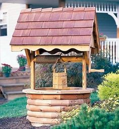 Wooden Wishing Well (4' High)