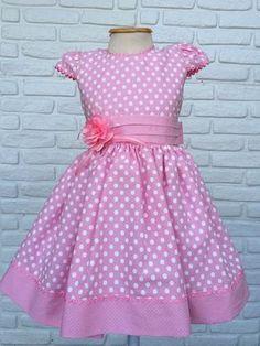 Vestido Festa Infantil - Rosa Minnie