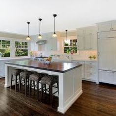 """Traditional island at 36"""" countertop height"""