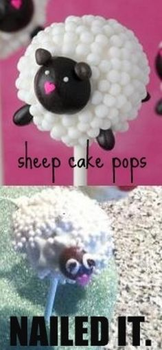 Nailed It! …. FAIL sheep cake pops