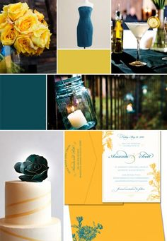 deep teal and yellow--like hints of yellow and in flowers but don't want it a bold secondary color.
