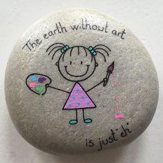 Have fun & make some rock art! Pebble Painting, Dot Painting, Pebble Art, Stone Painting, Stone Crafts, Rock Crafts, Arts And Crafts, Posca Art, Rock And Pebbles