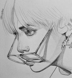 Kpop Drawings, Pencil Art Drawings, Drawing Sketches, Taehyung Fanart, Kpop Fanart, Cute Art, Art Inspo, Art Reference, Anime Art