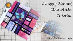 How to Sew a Scrappy Stained Glass Block - YouTube Quilt Square Patterns, Scrap Quilt Patterns, Modern Quilt Patterns, Paper Piecing Patterns, Pattern Blocks, Square Quilt, Rainbow Blocks, Stained Glass Quilt, Glass Blocks