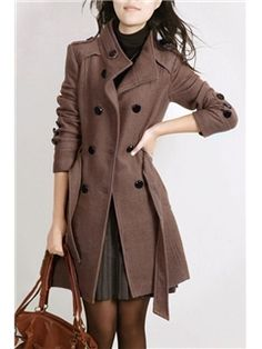 Korean Casual Fashion Woolen Coats