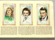 Film Stars 2nd Series Full Set of 50 Cigarette by GalleryAntiques, £6.50