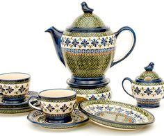 Teapot set - adorable shapes of Polish pottery