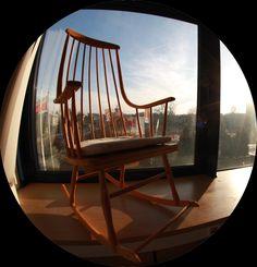 #Lena Larson #fotel bujany Swedish Design, Scandinavian Interior, Rocking Chair, Furniture, Home Decor, Chair Swing, Decoration Home, Room Decor, Rocking Chairs