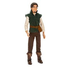 The dashing thief Flynn Rider is ready to steal his way into your heart! Looking handsome in his signature outfit from <i>Tangled</i>, this Flynn Rider Classic Doll is ready to embark on playtime adventures with both you and Rapunzel. Disney Tangled, Cute Disney, Disney Style, Disney Princess Dolls, Disney Dolls, Rapunzel, Flynn Rider, Barbie Life, How To Look Handsome