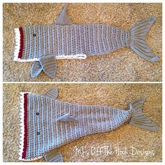 Crochet shark blanket This is soo cool! I wish I remembered how to crochet. :(