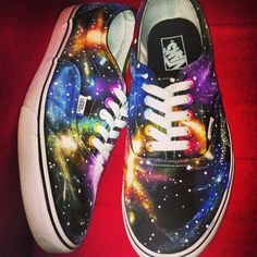 Self painted galaxy Vans awesome!!
