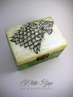 Game of Thrones inspired jewelry box (custom order).