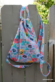 mommy is coo coo: How to make a drawstring bag