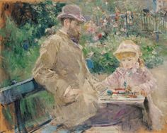 Eugene Manet and his Daughter by Berthe Morisot, Musee Marmottan