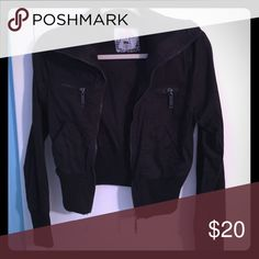 Black Poppy Zip Jacket Black cotton zip jacket. Lightweight and a adorable piece for cool summer nights. Great condition with no blemishes. (Size M) Black Poppy Jackets & Coats Utility Jackets