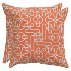 I pinned this Mazes Pillow in Orange - Set of 2 from the Pillows Under $50 event at Joss and Main!