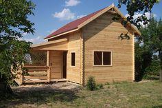 Piętrowy dom letniskowy do 25m2 25 m2 z poddaszem antresolą tarasem   Producent domów i domków drewnianych