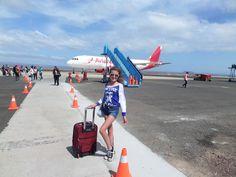 LLegada al aeropuerto de las Islas #Galápagos con un clima espectacular.