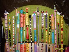 whimsical garden sticks--I could do this!