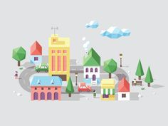 Little Town designed by Mᴧuco Sosᴧ. Connect with them on Dribbble;