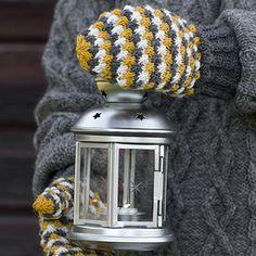 OHJE: Ristikäs-lapaset Knitting Patterns Free, Free Knitting, Knit Crochet, Crochet Hats, Kors, Mittens, Winter Hats, Artsy, Change