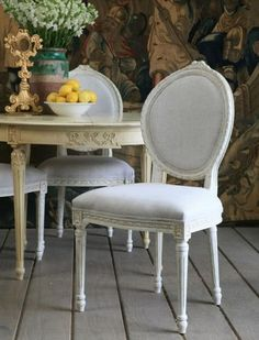 Eloquence Louis Upholstered Dining Chair Antique W