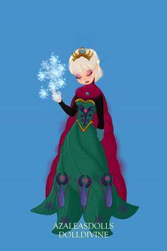 Elsa ~ by RainbowUnapega ~ created using the Pixie doll maker | DollDivine.com