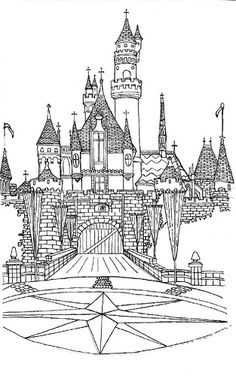 adultcoloringpagesfreetoprint Disney Castle Free Printable