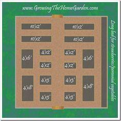 Планировка Огорода Грядок 2010