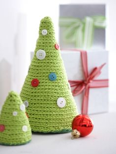 Christmas Trees | Yarn | Free Knitting Patterns | Crochet Patterns | Yarnspirations