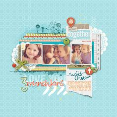 I love how melissa used this template Layer Works No. 351 to showcase her daughters!