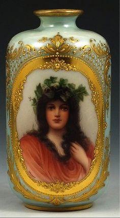 Royal Vienna Porcelain (Austria) — Portrait Vase