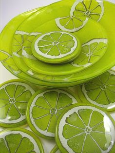 made of glass: Lemon set - Monika Tarasin-Lenart