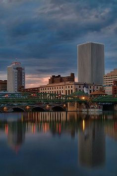 Downtown Rochester NY - we really love it here! Landscaping Near Me, Landscaping Company, Chase Bank, Rochester New York, Light Panel, Places Ive Been, New York Skyline, Skyscraper, Landscape