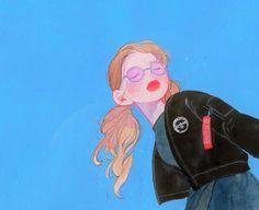 """4,101 Me gusta, 26 comentarios - FOMMY (@fommy__y) en Instagram: """" 파란하늘 너무 좋다 ㅠㅜ 요즘 수채화 용지만 쓰다가 캔트지 쓰니까 어색하닷 ㅠㅠ - 옷은 친구옷 참고! *ଘ(੭*ˊᵕˋ)੭* ੈ✩‧₊˚…"""""""