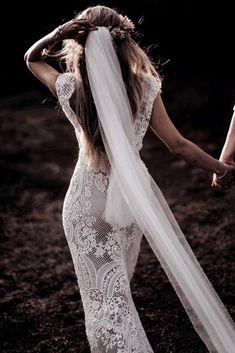 Bohemian Wedding Dresses, Long Wedding Dresses, Bridal Dresses, Wedding Gowns, Lace Wedding, Dream Wedding, Rustic Bohemian Wedding, Trendy Wedding, Elegant Wedding