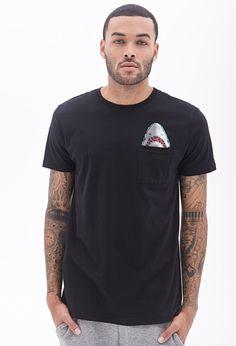 Shark Pocket Tee #21Men. I want this shirt for me lol.