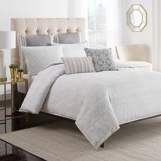 Inject an enchanting sense of style into your bedroom with Cupcakes and Cashmere's Moroccan Geo Duvet Cover. Sharp angles, lines and shapes add dimension to each piece's crisp cotton ground. Quality craftsmanship and a modish aesthetic elevate your decor.