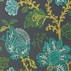 Coromandel Wallpaper in Teal, Green, and Lime by Nina Campbell for... ($268) ❤ liked on Polyvore featuring home, home decor, wallpaper, wallpaper samples, floral wallpaper, teal home decor, floral pattern wallpaper, green floral wallpaper and metallic wallpaper