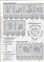 Risultati immagini per bordi all uncinetto schemi