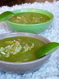 Aguadito de pollo with coriander - Peruvian soup.