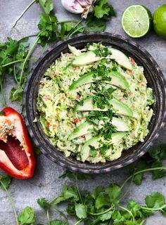 Venezuelan Avocado Chicken Salad - creamy chicken salad with vibrant Latin flavors made with avocado instead of mayo for healthy, paleo, dairy-free dining! #Avocado #ChickenSalad #Paleo #Whole30 #DiaryFree