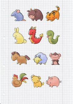 Chinese Zodiac by cinnamel.deviantart.com on @deviantART: