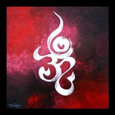 Om by artist RAM KASTURE, Acrylic on canvas 16x16 Shiva Art, Hindu Art, Dot Art Painting, Fabric Painting, Om Art, Simple Canvas Paintings, Mini Canvas Art, Krishna Painting, Indian Art Paintings