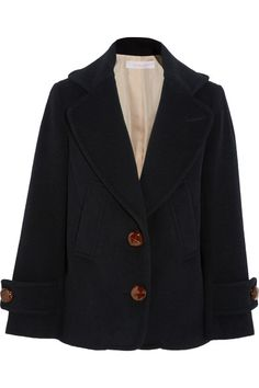 See by Chloé | Single-breasted wool-blend peacoat | NET-A-PORTER.COM